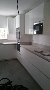 New kitchen units installed