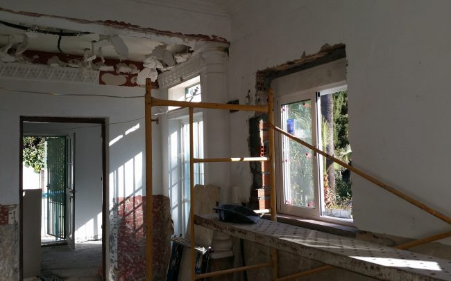 Coin finca renovation with new windows