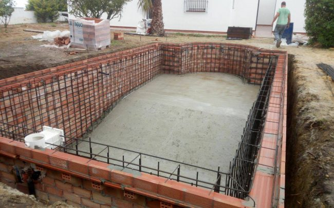 start of swimming pool construction