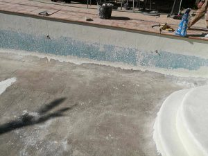 pool tiling and grouting