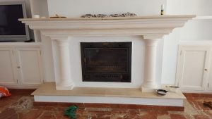 Fireplace before painting work, Marbella