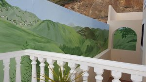 Decorative exterior mural, Marbella