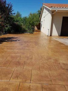 Printed concrete driveway, Fuengirola