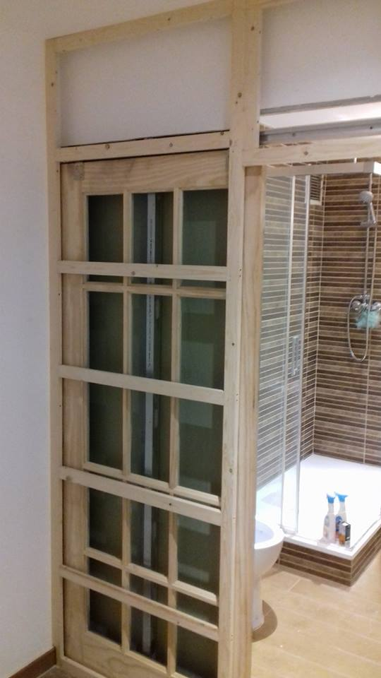 Making interior sliding wooden door
