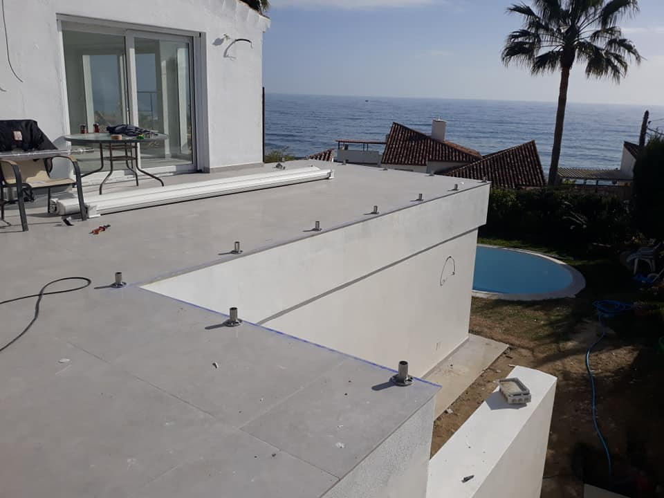Installation Stainless Steel Balustrade, Estepona
