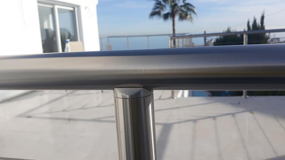Detail of Stainless Railings