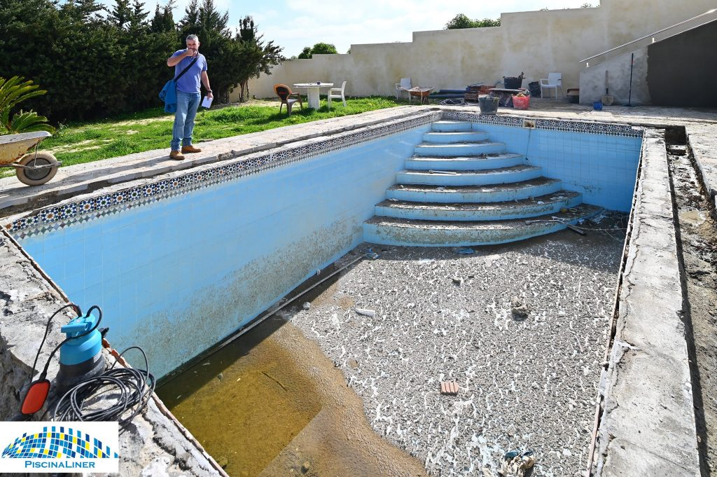 Swimming pool rebuild, Estepona
