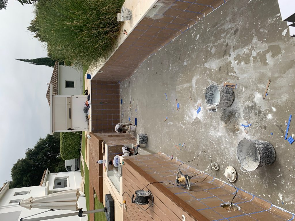Swimming pool tiling, San Roque
